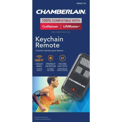 Chamberlain 3-Button Black Garage Door Remote Keychain