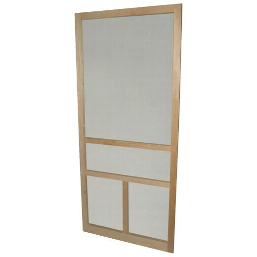 Snavely 32 In. W. x 80 In. H. x 1-1/8 In. Thick Natural Solid Pine Wood T-Bar Screen Door