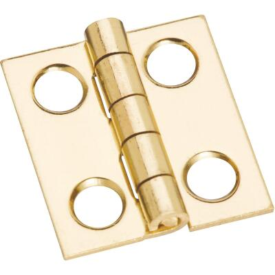 National 3/4 In. x 11/16 In. Medium Clear Coat Decorative Hinge
