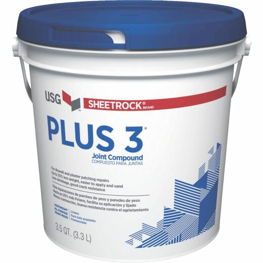 Sheetrock Plus 3 Pre-Mixed 3.5 Qt. Lightweight All-Purpose Drywall Joint Compound