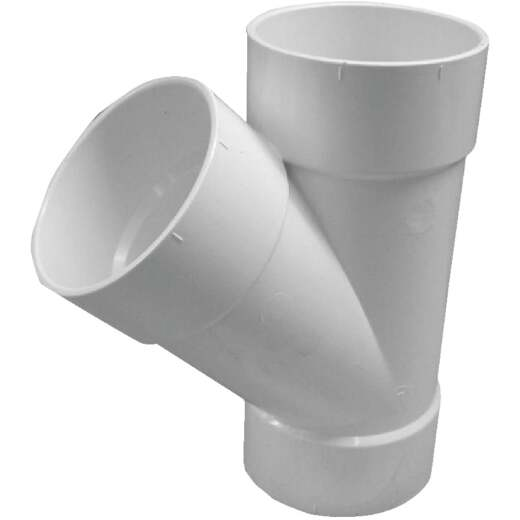 IPEX Canplas SDR 35 Hub 3 In. PVC Sewer and Drain Wye