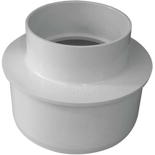 IPEX Canplas SDR 35 6 In. x 4 In. PVC Sewer and Drain Reducer Bushing