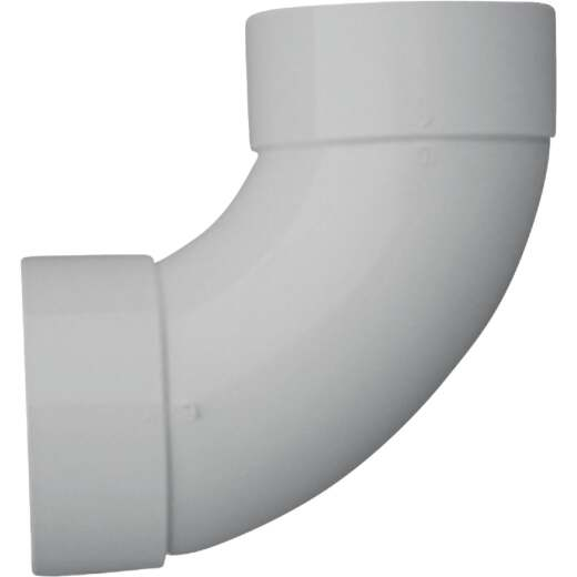 IPEX Canplas SDR 35 90 Degree 6 In. PVC Sewer and Drain Sanitary Elbow (1/4 Bend)