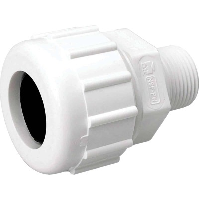 B&K 2 In. MIPT Schedule 40 Compression Union PVC Adapter
