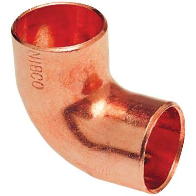 Mueller Streamline 3/4 In. X 1/2 In. CxC 90 Degree Reducing Copper Elbow