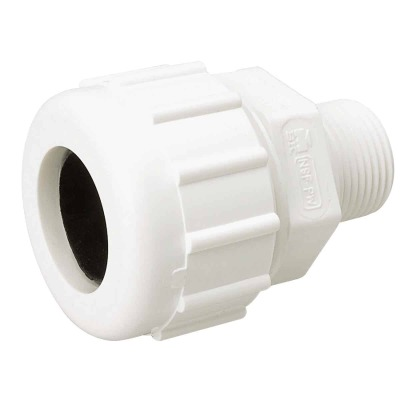 B&K 1 In. MIPT Schedule 40 Compression Union PVC Adapter