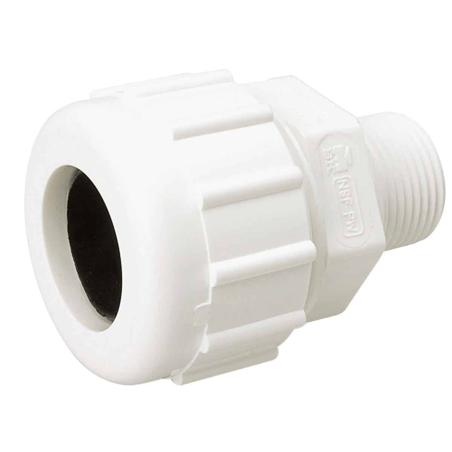 B&K 1/2 In. MIPT Schedule 40 Compression Union PVC Adapter Image 1
