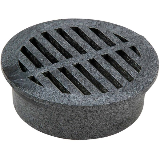 NDS 4 In. Black PVC Round Grate