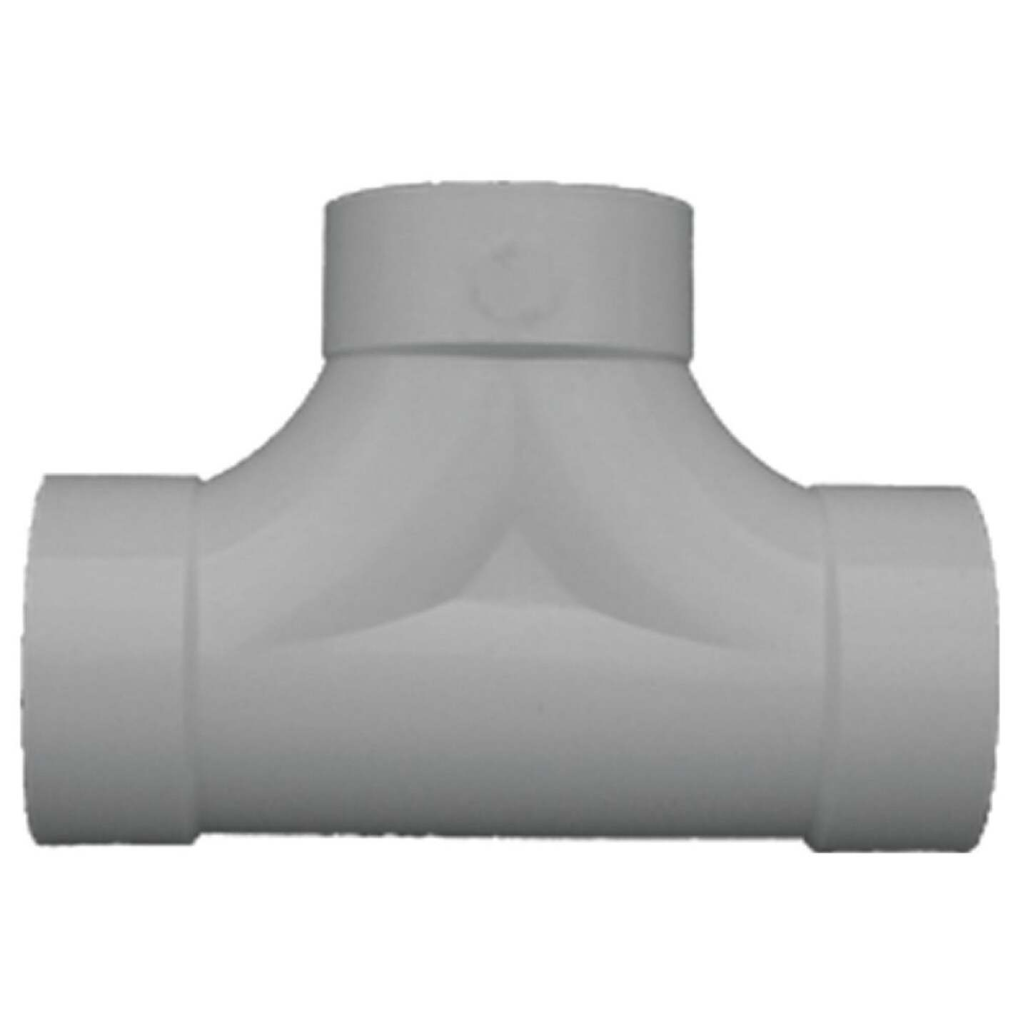 IPEX 4 In. PVC Sewer and Drain Two Way Tee Image 1