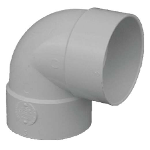 IPEX Canplas SDR 35 90 Degree 4 In. PVC Sewer and Drain Short Turn Elbow (1/4 Bend)