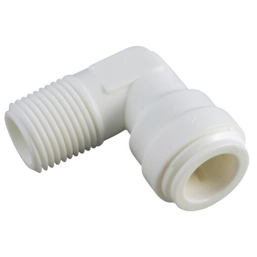 Anderson Metals 5/8 In. OD x 1/2 In. MIP Push-in Male Plastic Elbow