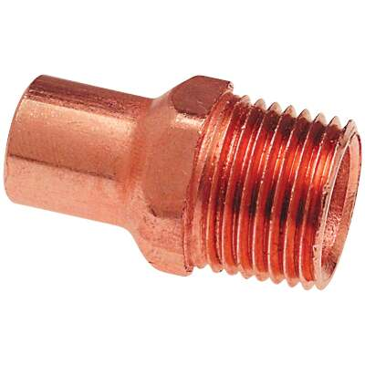 Mueller Streamline 3/4 In. FTGxM Copper Pipe Adapter