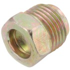 Anderson Metals 1/4 In. Brass Inverted Flare Plug Image 1