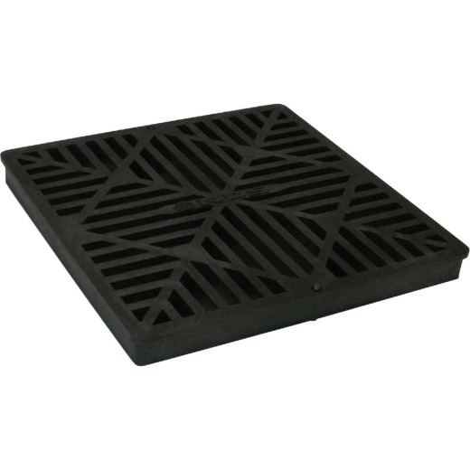 NDS 12 In. x 12 In. Black Square Square Grate
