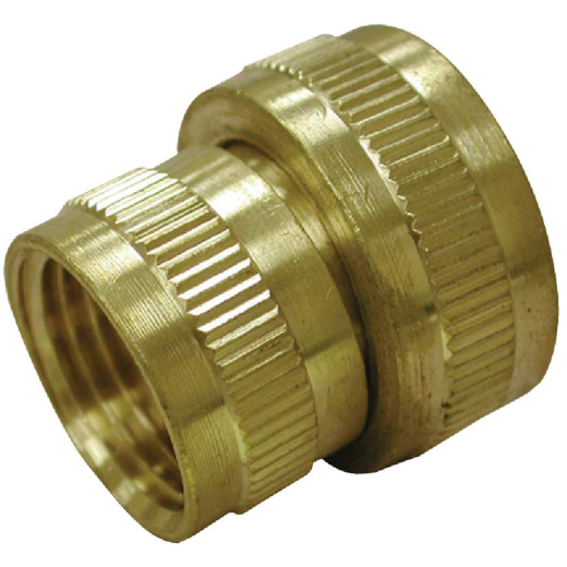 Anderson Metals 3/4 In. FHT x 1/2 In. FPT Brass Swivel Adapter