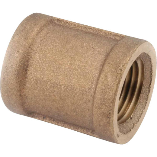 Anderson Metals 1-1/4 In. Threaded Red Brass Coupling