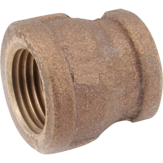 Anderson Metals 1 In. x 1/2 In. Threaded Reducing Brass Coupling