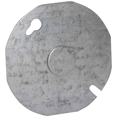 Raco 3-1/2 In. 1/2 In. Knockout Gray Octagon Box Cover