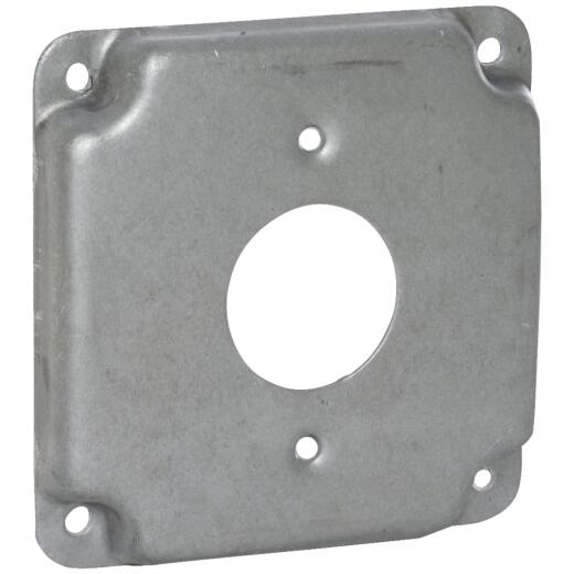 Raco 1-13/32 In. Receptacle 4 In. x 4 In. Square Device Cover