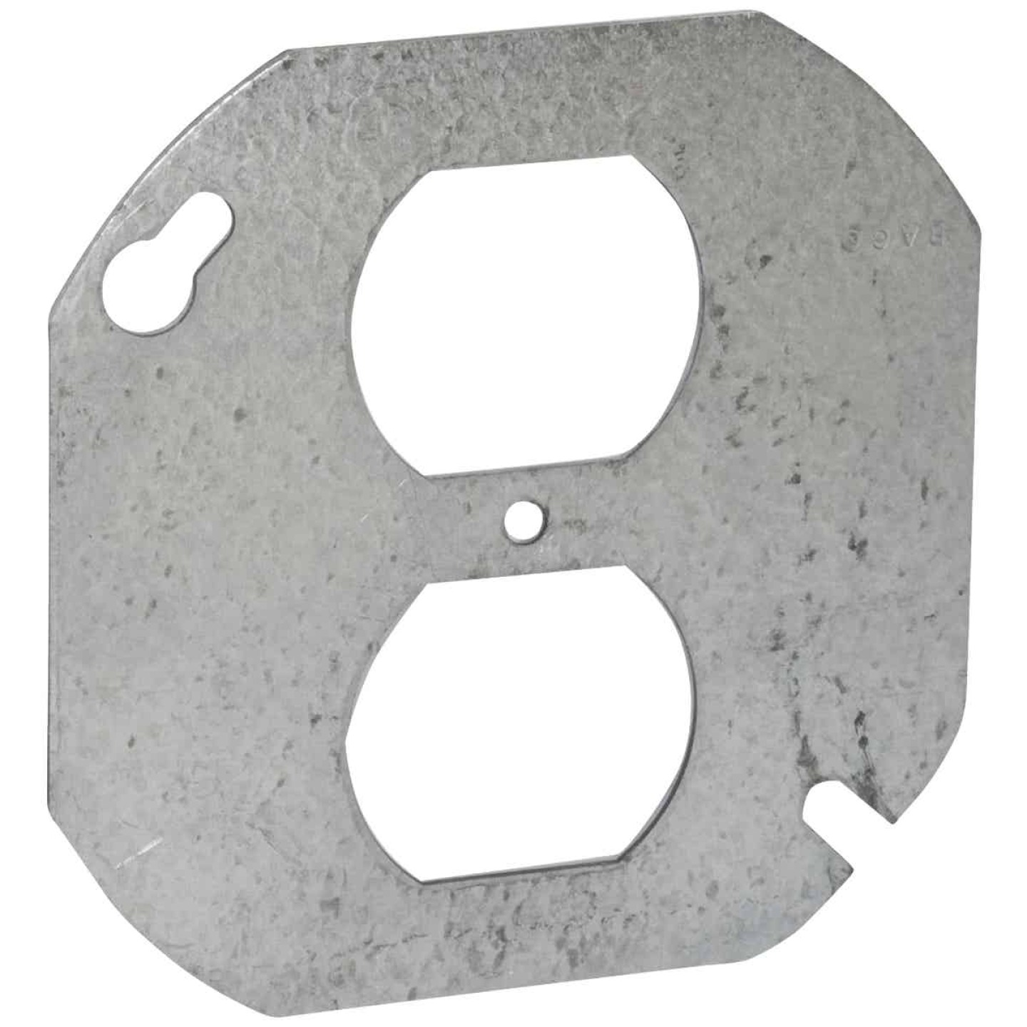 Raco 4 In. Duplex Receptacle Gray Round Box Cover Image 1