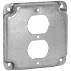Raco Duplex Receptacle 4 In. x 4 In. Square Device Cover Image 1
