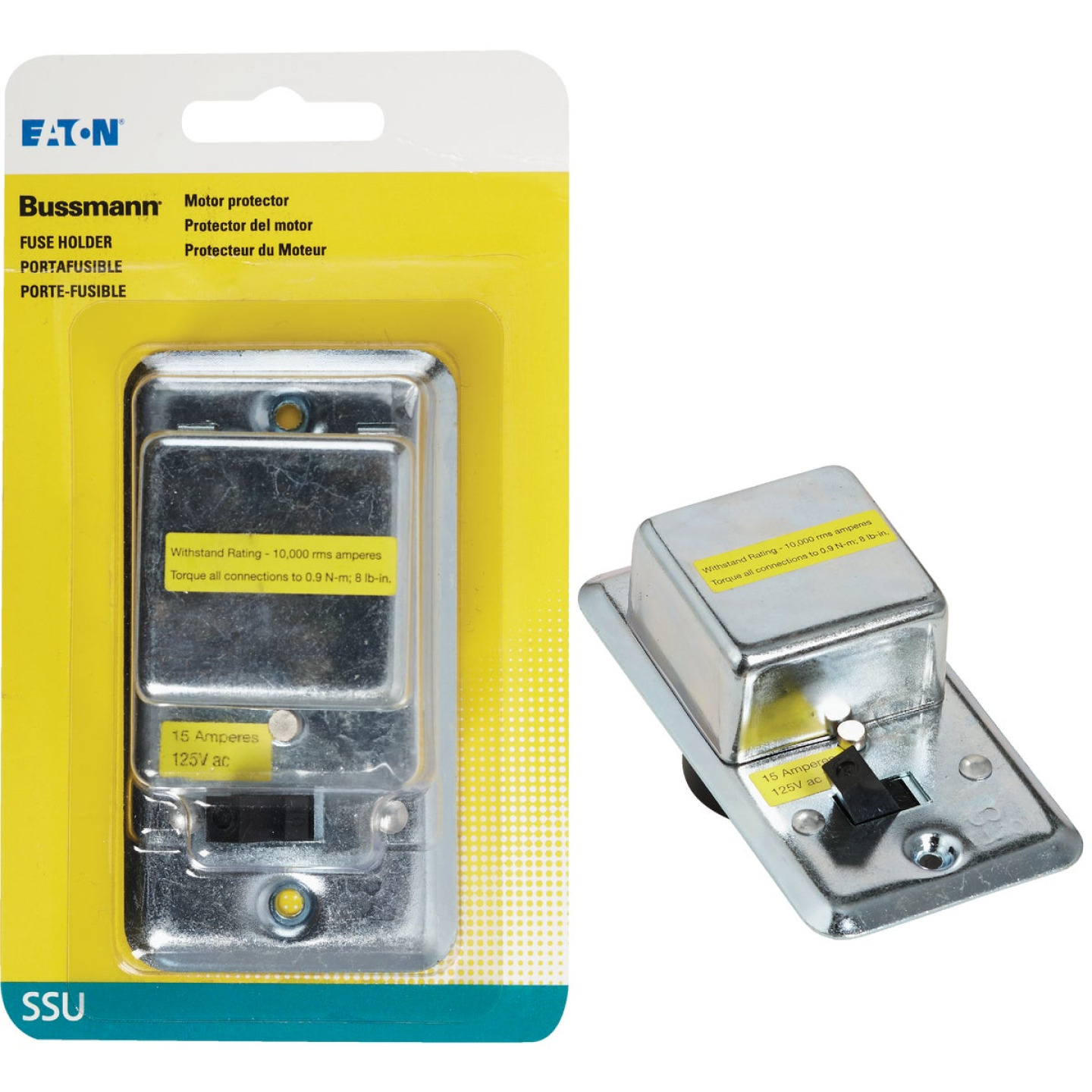 Bussmann 125V 15A 2-1/4 In. Handy Box Fuse Holder Cover Plate Image 1