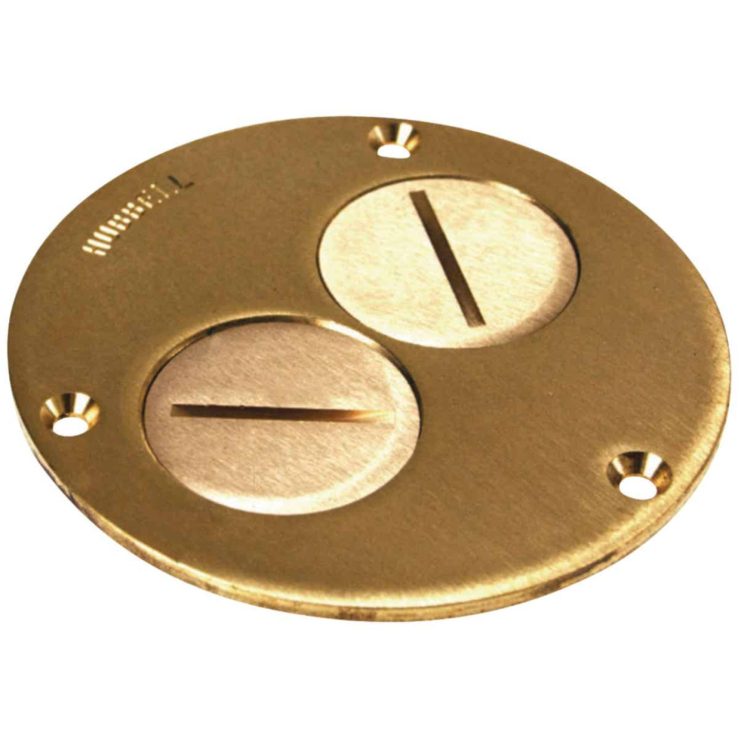 Steel City Brass Polished Brass 4-1/4 In. Floor Outlet Cover Plate Image 1