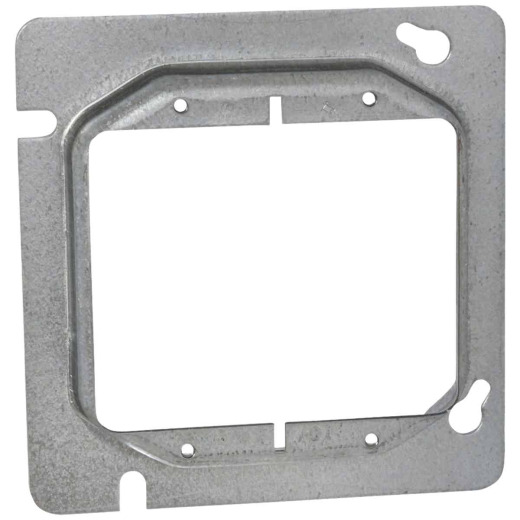 Raco 2-Device Combination 4-11/16 In. x 4-11/16 In. Square Raised Cover