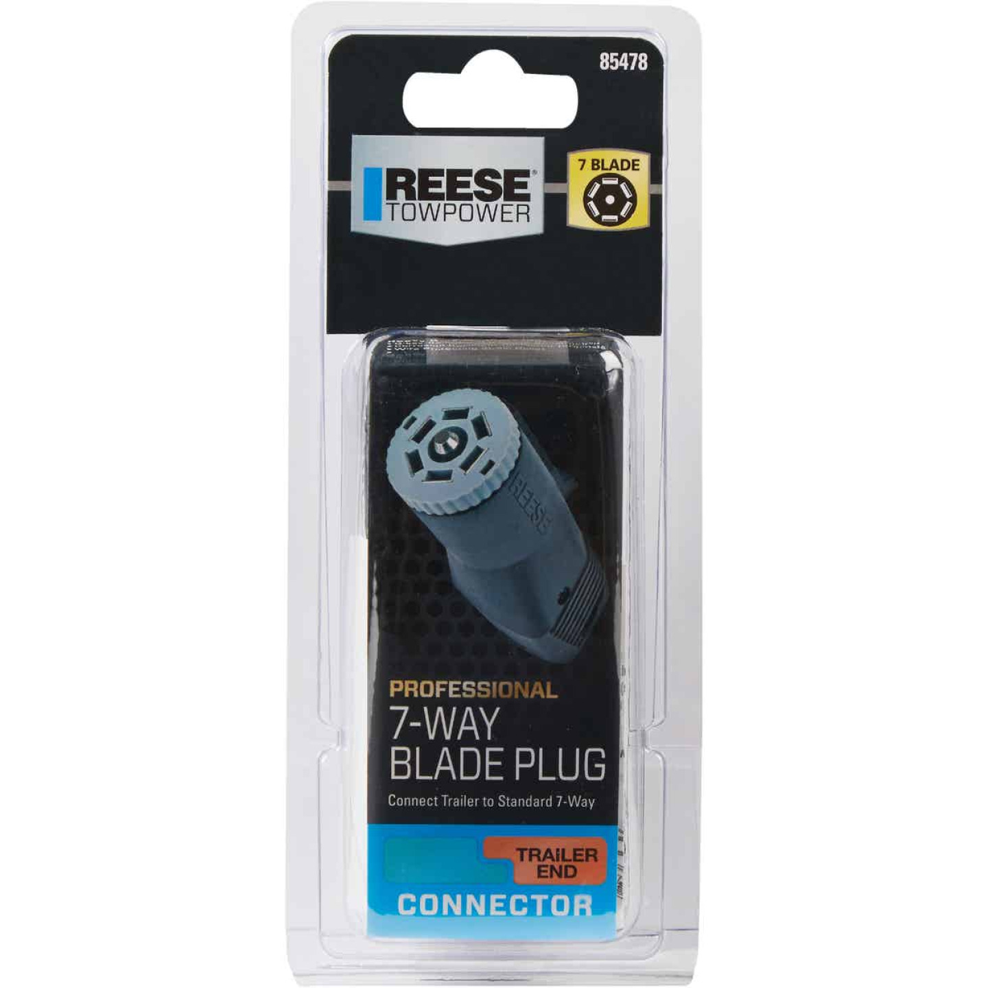 Reese Towpower 7-Blade Professional Trailer Side Connector Image 2