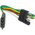 Reese Towpower 12 In. 4-Flat Loop Trailer Wiring Extension Image 1