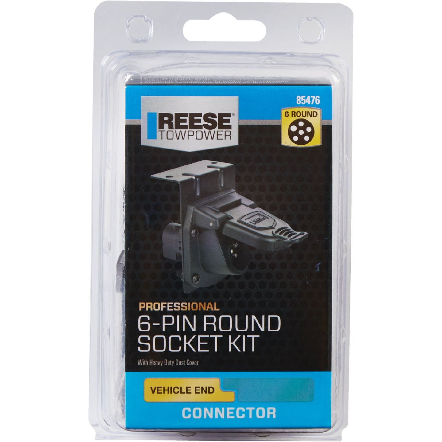 Reese Towpower 6-Round Professional Vehicle Side Connector Image 2