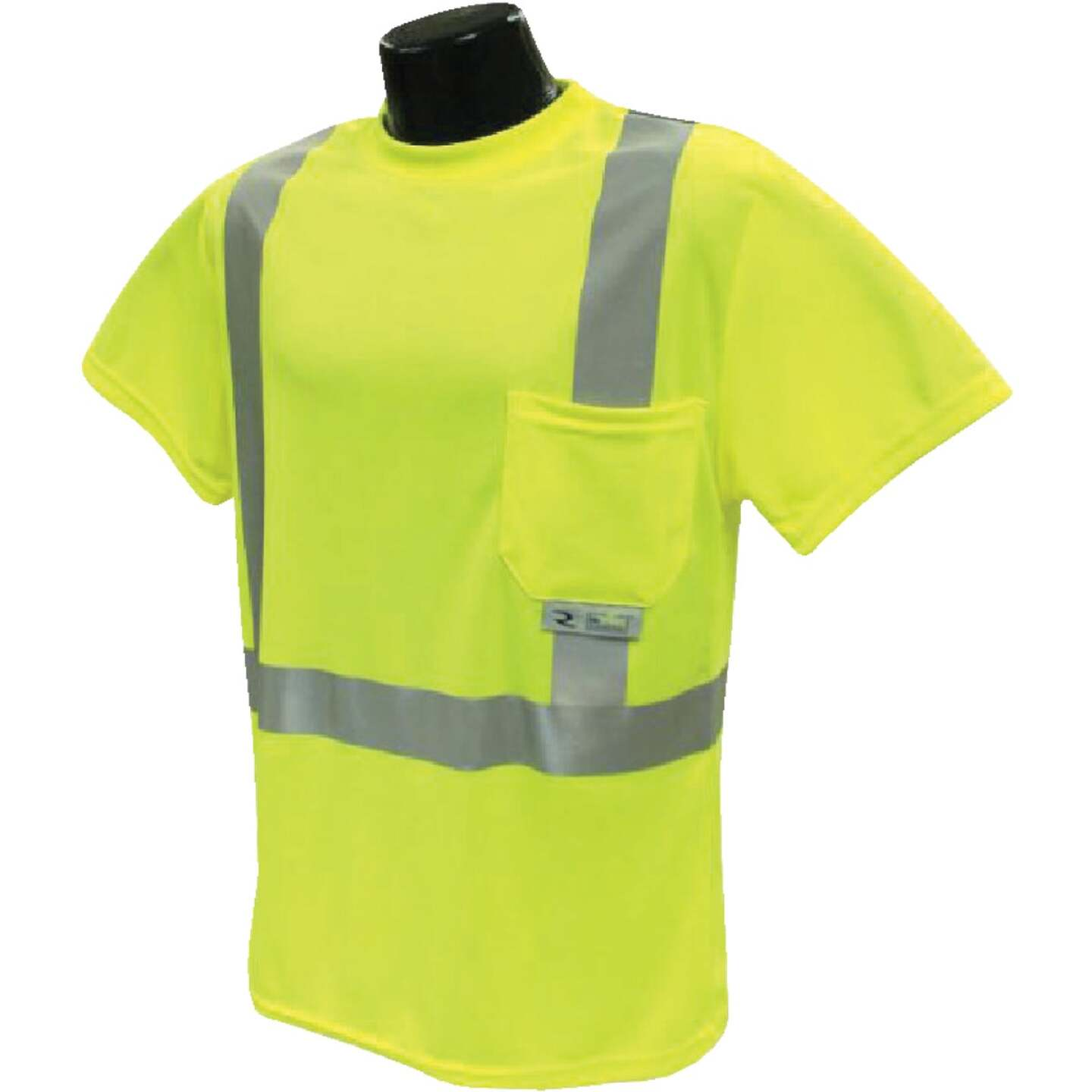 Radians Rad Wear ANSI Class 2 Hi Vis Green Safety T-Shirt XL Image 1