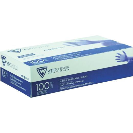 West Chester Protective Gear Posi Shield Small Nitrile Disposable Glove with Textured Fingertips (100-Pack)