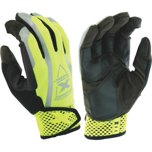 West Chester Protective Gear Extreme Work VizX Men's XL Synthetic Leather Safety Work Glove