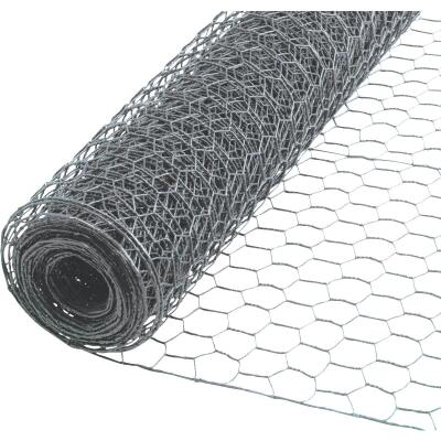 1/2 In. x 24 In. H. x 25 Ft. L. Hexagonal Wire Poultry Netting