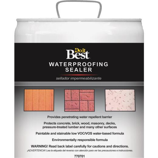 Do it Best Clear Water-Based Waterproofing Sealer, 5 Gal.