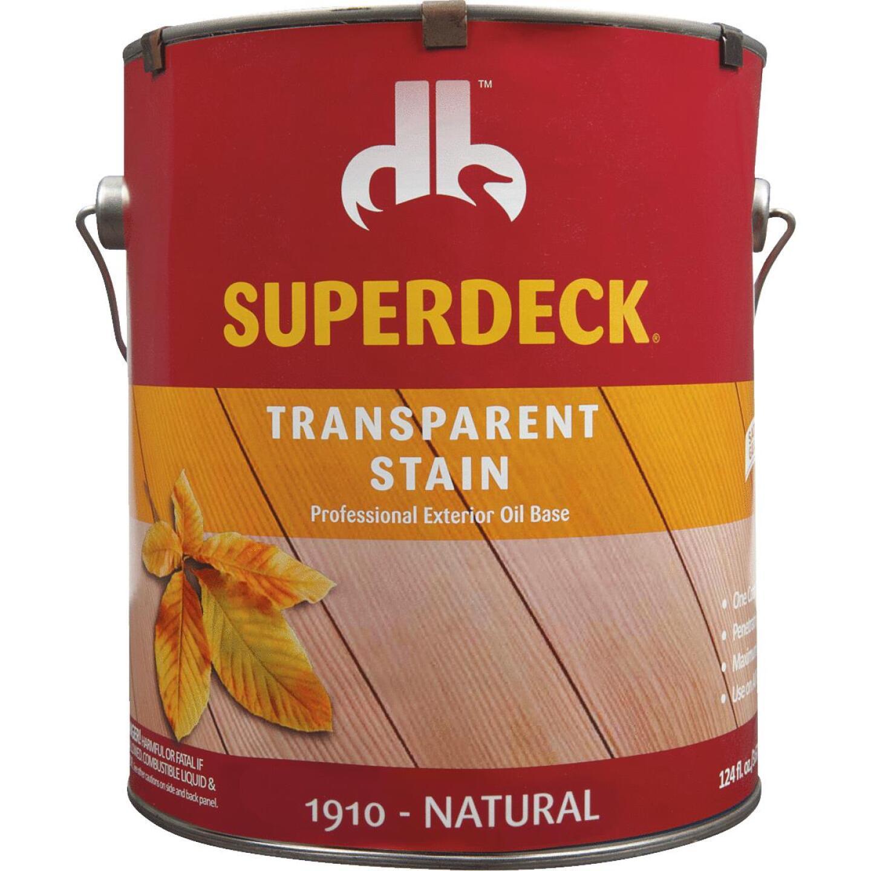 Duckback SUPERDECK Transparent Exterior Stain, Natural, 1 Gal. Image 2