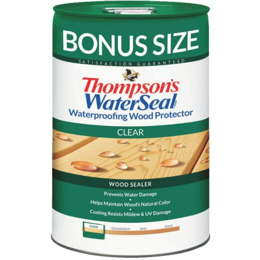 Thompsons WaterSeal Clear Water-Based VOC Compliant Wood Protector, 6 Gal.