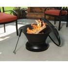 Outdoor Expressions 26 In. Antique Bronze Round Cast Iron Fire Pit Image 2