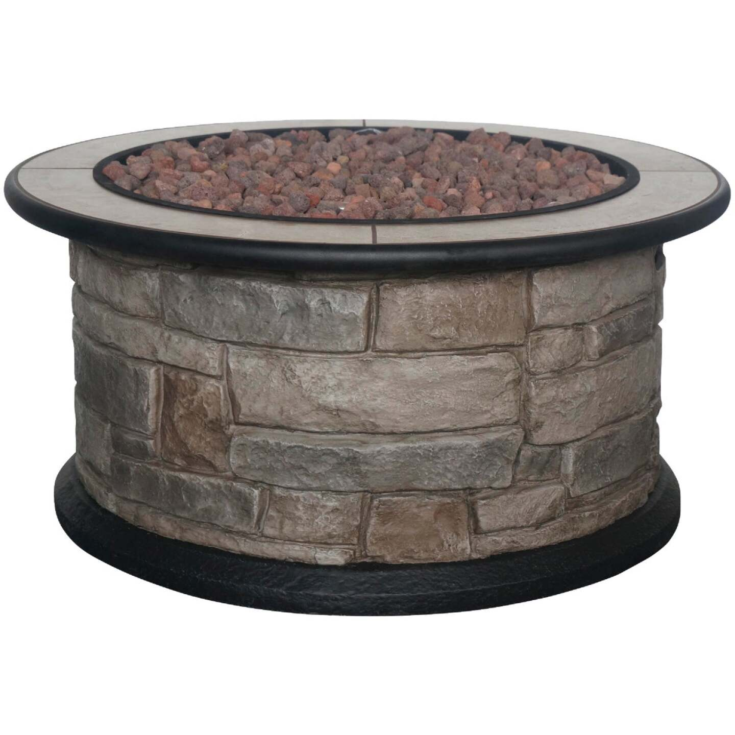 Bond Wellsville 36 In. Round Steel Gas Fire Pit Image 1